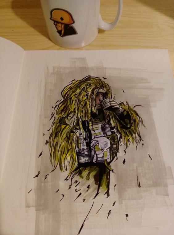 inspiracje poligonowe, wojsko, żołnierz - Manwith Passion Paweł WORO Worobiej