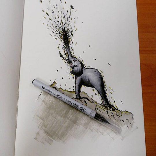 Elephant - Manwith Passion Paweł Worobiej WORO