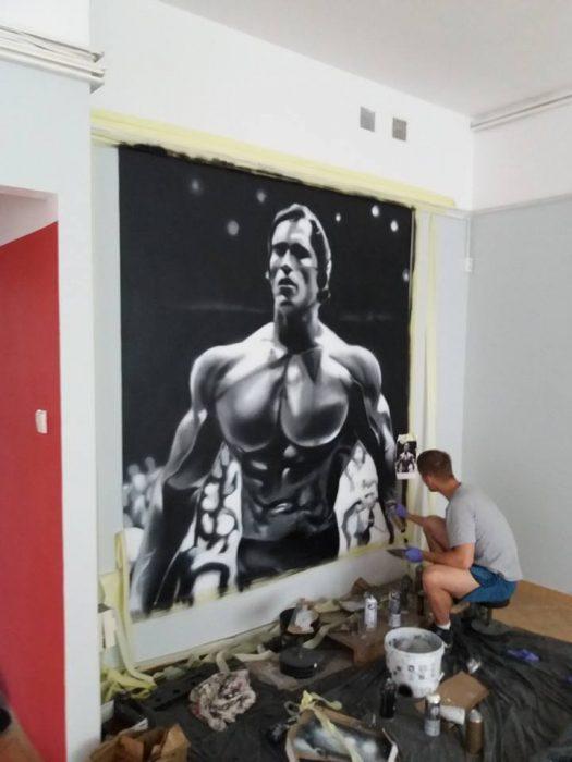 Arnold Schwarzenegger manwith passion Paweł Worobiej WORO