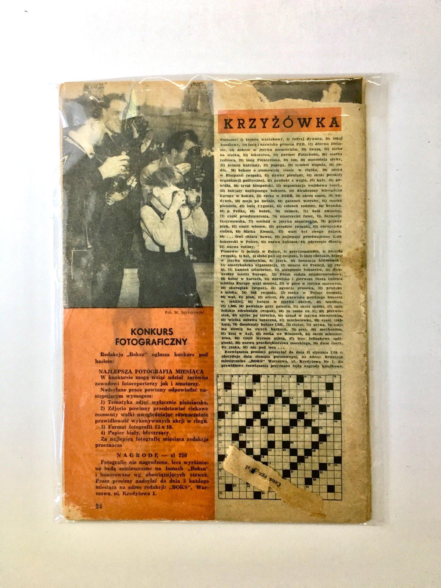 BOKS wydanie nr.1 styczeń 1958 r